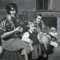Warten,  Acryl auf Leinwand,  135 x 180 cm
