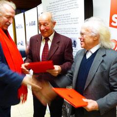 Gratulation der Geehrten durch den OV-Vorsitzende Jürgen Häusler, Bad Schwalbach