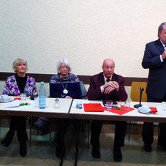 Podiumsteilnehmer (von links): Horst Kaltwasser, Christel Trautmann, Ingrid Ritter, Manfried Weber, Kurt Beck