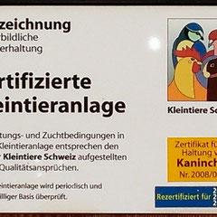 2008 Zertifiziert / 2012 Rezertifiziert