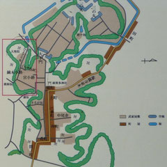 江戸時代の佐倉城下の武家屋敷曲輪図