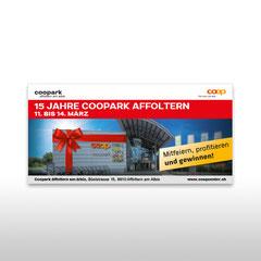 Kunde: Coop / Auftrag: Grossplakat für Jubiläum Coopark Affoltern