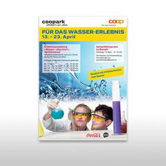 Kunde: Coop / Auftrag: Plakat Wasserausstellung für Coopark Affoltern