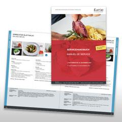 Kunde: Elvetino / Auftrag: Servicehandbuch für die Speisewagen der SBB