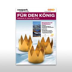 Kunde: Coop / Auftrag: Plakat 3 Könige Coopark Affoltern