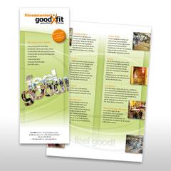 Kunde: Goodfit Fitnesscenter / Auftrag: Imageflyer