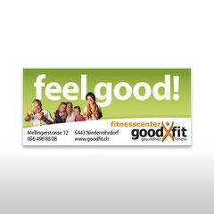 Kunde: Goodfit Fitnesscenter / Auftrag: Grossflächenplakat