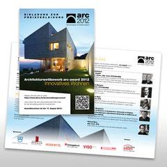 Kunde: Docu Media Schweiz GmbH / Auftrag: Flyer Preisverleihung Arc-Award