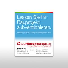 Kunde: Docu Media Schweiz GmbH / Auftrag: Messeplakat für Baufördergelder