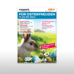 Kunde: Coop / Auftrag: Plakat Osteraktion für Coopark Affoltern