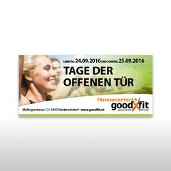 Kunde: Goodfit Fitnesscenter / Auftrag: Grossflächenplakat Tag der offenen Tür