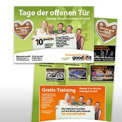 Kunde: Goodfit Fitnesscenter / Auftrag: Flyer 10. Jubiläum