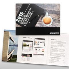 Kunde: Docu Media Schweiz / Auftrag: Imageflyer Schweizer Baudokumentation