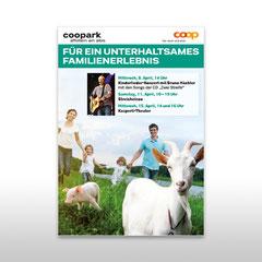 Kunde: Coop / Auftrag: Plakat Familienfest Coopark Affoltern