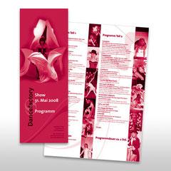 Kunde: Dancefactory / Auftrag: Programmflyer für Tanzshow