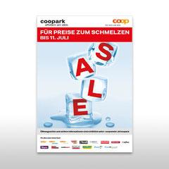 Kunde: Coop / Auftrag: Plakat SALE Coopark Affoltern