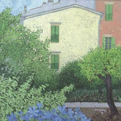 Françoise Trotabas -La petite maison Vence- 2/4 -  acrylique sur toile - 20X20cm -  2018