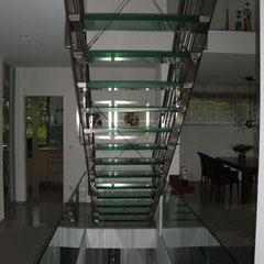 Treppenstufe aus Glas
