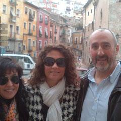 Entre los excelentes poetas y personas Cecilia Quílez y Alejandro Céspedes