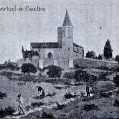 """gravure extraite de la """"Notice De Notre-Dame de La Val vendue au profit de la Chapelle"""" (1904)"""