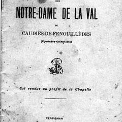 Notice vendue au profit de Notre-Dame de La Val