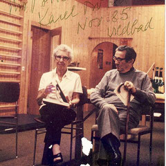 Dr. Karel Bobath und Mrs.Berti Bobath im Bobathkurs 1985 in Wildbad