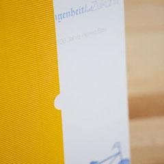Firmen-Jubiläumsbroschüre mit Schuber