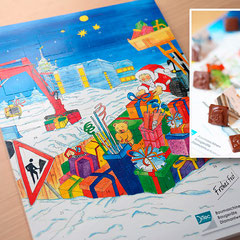 Illustration  Adventskalender (aquarellierte Handzeichnung)