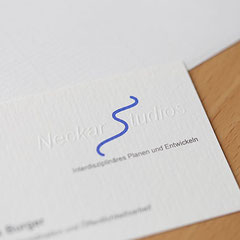 Logo, Visitenkarten mit Prägedruck