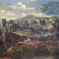 Nicolas Poussin, huile sur toile, 120x187 cm, 1650, le Prado, Madrid.