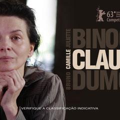 Affiche du film Camille Claudel, 1915 de Bruno Dumont avec Juliette Binoche et Jean-Luc Vincent, 2013.