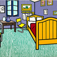 Roy Lichtenstein, Chambre à Arles, huile sur toile, 1992.