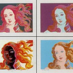 La Naissance de Vénus interprétée par Andy Warhol en 1984.
