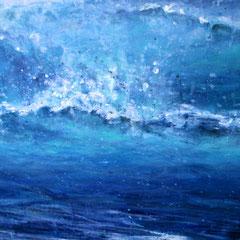 """dans le bleu I"", meer bei marseillan plage, Detail, 100 x 120 cm, Acryl auf Leinand, 2015"