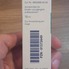 Euphrasia D3 Augentropfen Beschreibung auf der Verpackung
