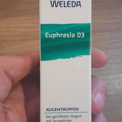 Euphrasia D3 Augentropfen Beschreibung auf Verpackung