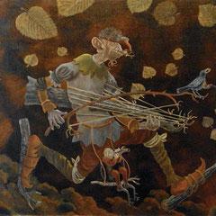 musique au corps-huile sur toile-40x70