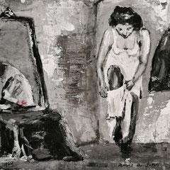 Femme au jupon