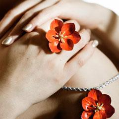 Blütenzauber Ring und Collier bezaubern einfach nur