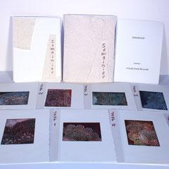 Semainier, livre d'artiste, 2014, 7 collagraphies et relief, texte et portfolio par l'artiste, 21,5 X 16 X 1,5 cm