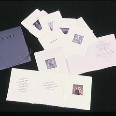 Arbre, livre d'artiste, 2007, 7 estampes, texte Andrée Picard, typographie Martin Dufour