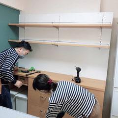 家具の取り付け 施工