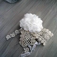 コサージュ(ホワイト)横15cm 縦12cm 幅6cm 重さ36g 直径 7cm