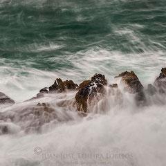 La fuerza del mar en Pebble Island