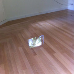 Mozaik ondervloer met QFQ tapis stroken gelakt met Bona traffic