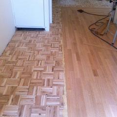 Mozaik ondervloer met QFQ tapis stroken