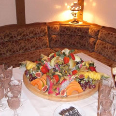 gesundes Essen und Dessert im Restaurant Krinitzenstube