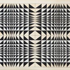 """""""Dreieicke"""", 1974, Tusche/Buntstift, 45,5 x 68,5 cm"""