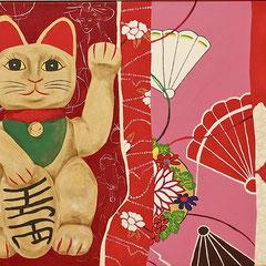 Maneki Neko,  80 x 60 cm