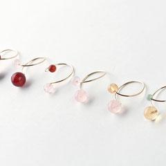 Flexible Ringe aus Gold Filled mit diversen Halb-Edelsteinen